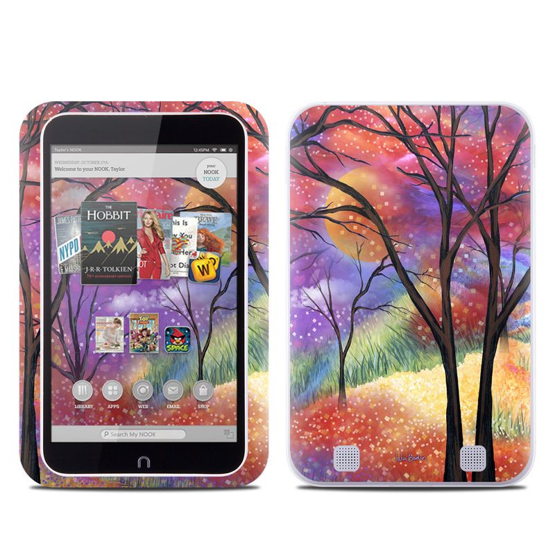 Barnes And Noble Nook Hd Tablet Skin Moon Meadow By Juleez Decalgirl