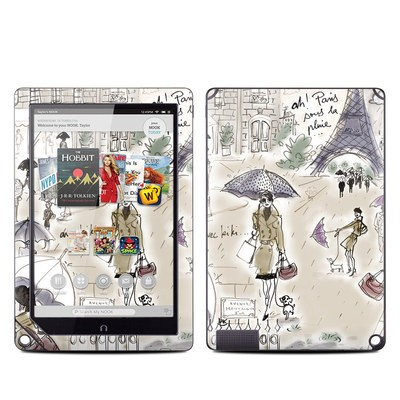 Barnes and Noble NOOK HD Plus Tablet Skin - Ah Paris