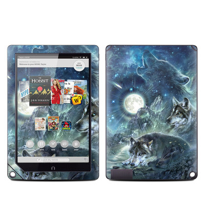 Barnes and Noble NOOK HD Plus Tablet Skin - Bark At The Moon