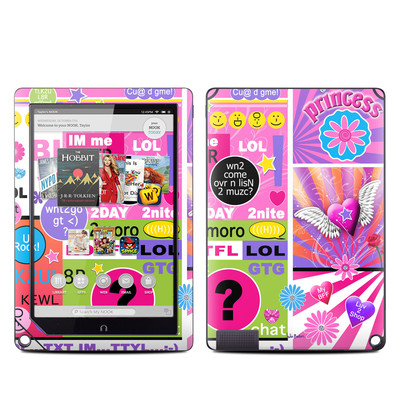 Barnes and Noble NOOK HD Plus Tablet Skin - BFF Girl Talk
