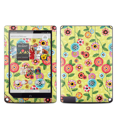 Barnes and Noble NOOK HD Plus Tablet Skin - Button Flowers