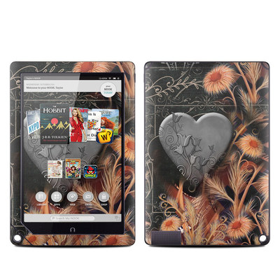 Barnes and Noble NOOK HD Plus Tablet Skin - Black Lace Flower