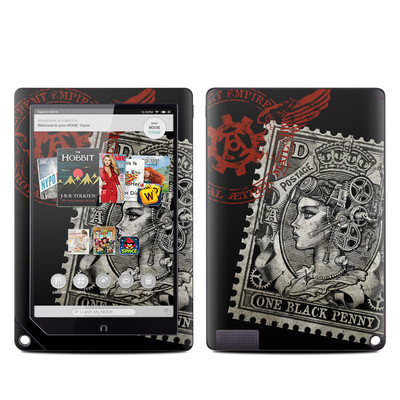 Barnes and Noble NOOK HD Plus Tablet Skin - Black Penny