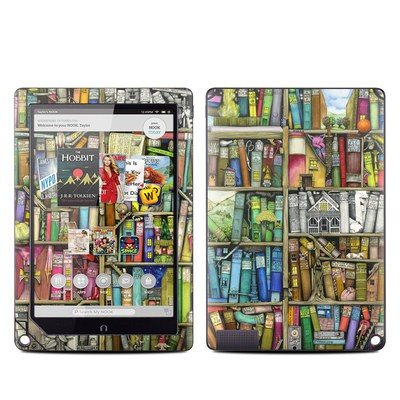Barnes and Noble NOOK HD Plus Tablet Skin - Bookshelf