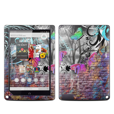Barnes and Noble NOOK HD Plus Tablet Skin - Butterfly Wall