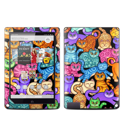 Barnes and Noble NOOK HD Plus Tablet Skin - Colorful Kittens