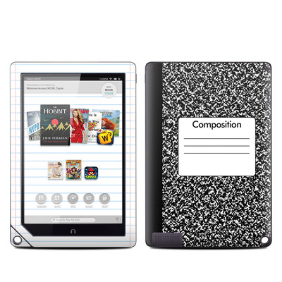 Barnes and Noble NOOK HD Plus Tablet Skin - Composition Notebook