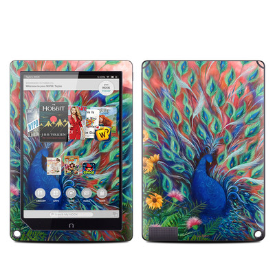 Barnes and Noble NOOK HD Plus Tablet Skin - Coral Peacock