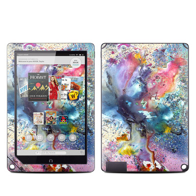 Barnes and Noble NOOK HD Plus Tablet Skin - Cosmic Flower