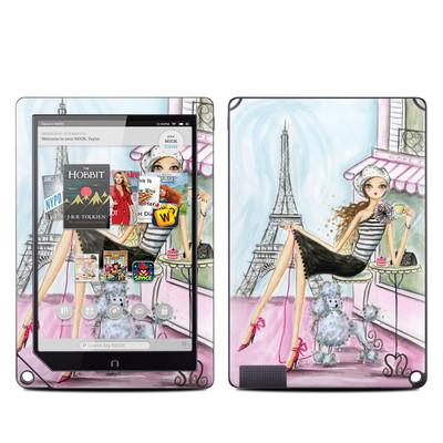 Barnes and Noble NOOK HD Plus Tablet Skin - Cafe Paris