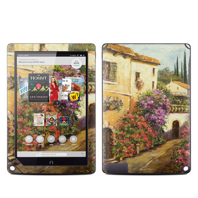 Barnes and Noble NOOK HD Plus Tablet Skin - Via Del Fiori