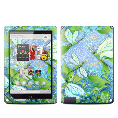 Barnes and Noble NOOK HD Plus Tablet Skin - Dragonfly Fantasy
