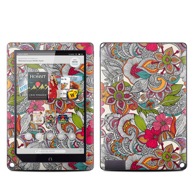 Barnes and Noble NOOK HD Plus Tablet Skin - Doodles Color