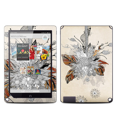 Barnes and Noble NOOK HD Plus Tablet Skin - Fall Floral