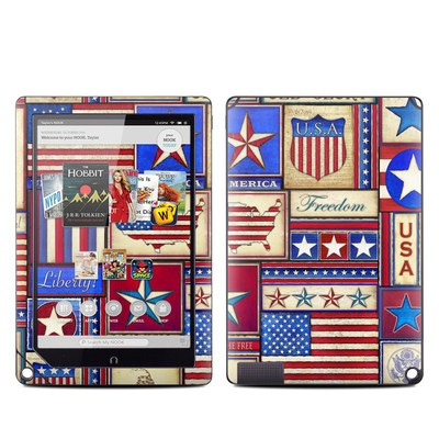 Barnes and Noble NOOK HD Plus Tablet Skin - Flag Patchwork