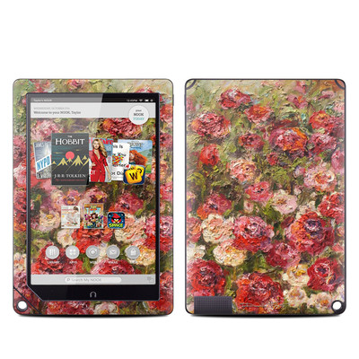 Barnes and Noble NOOK HD Plus Tablet Skin - Fleurs Sauvages