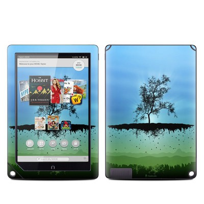 Barnes and Noble NOOK HD Plus Tablet Skin - Flying Tree Blue