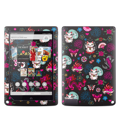 Barnes and Noble NOOK HD Plus Tablet Skin - Geisha Kitty