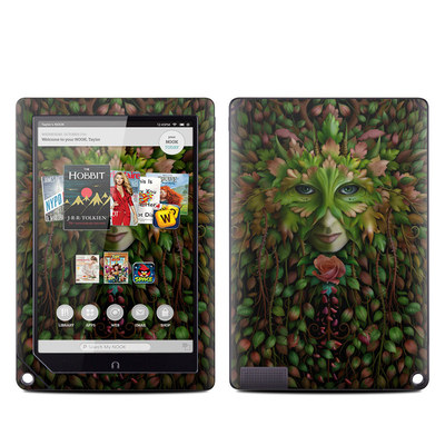 Barnes and Noble NOOK HD Plus Tablet Skin - Green Woman
