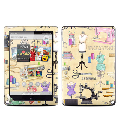 Barnes and Noble NOOK HD Plus Tablet Skin - Haberdashery