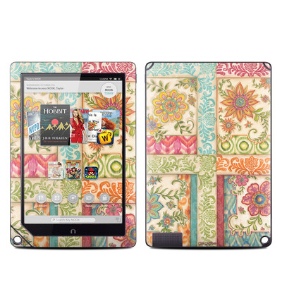 Barnes and Noble NOOK HD Plus Tablet Skin - Ikat Floral