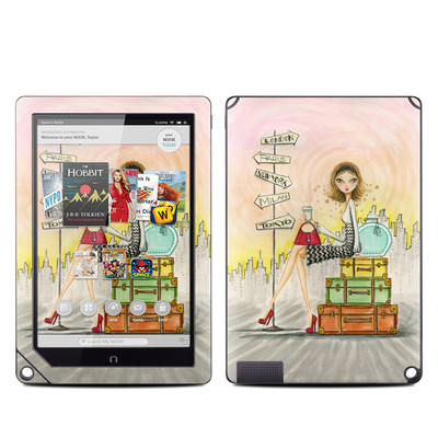 Barnes and Noble NOOK HD Plus Tablet Skin - The Jet Setter