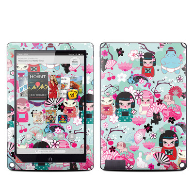 Barnes and Noble NOOK HD Plus Tablet Skin - Kimono Cuties