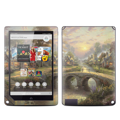 Barnes and Noble NOOK HD Plus Tablet Skin - Sunset On Lamplight Lane