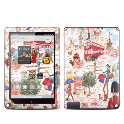Barnes and Noble NOOK HD Plus Tablet Skin - London