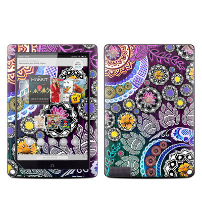 Barnes and Noble NOOK HD Plus Tablet Skin - Mehndi Garden