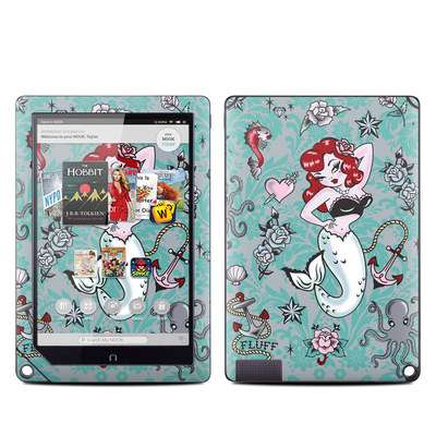Barnes and Noble NOOK HD Plus Tablet Skin - Molly Mermaid