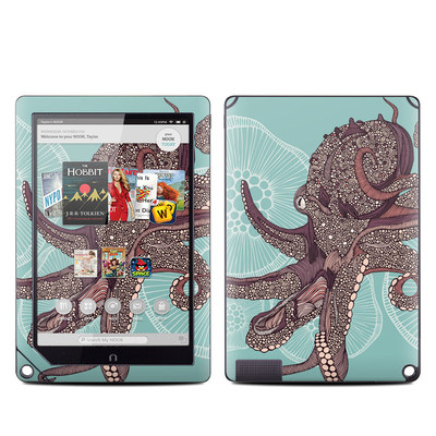 Barnes and Noble NOOK HD Plus Tablet Skin - Octopus Bloom