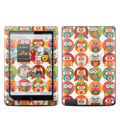 Barnes and Noble NOOK HD Plus Tablet Skin - Owls Family