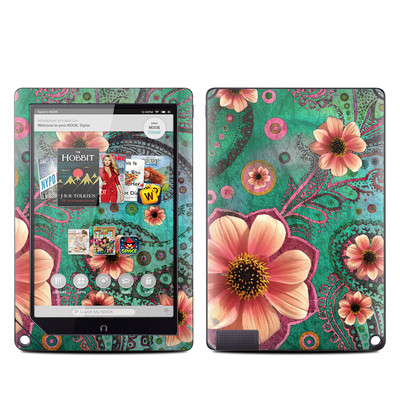 Barnes and Noble NOOK HD Plus Tablet Skin - Paisley Paradise