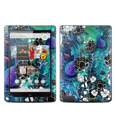 Barnes and Noble NOOK HD Plus Tablet Skin - Peacock Garden