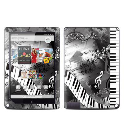 Barnes and Noble NOOK HD Plus Tablet Skin - Piano Pizazz