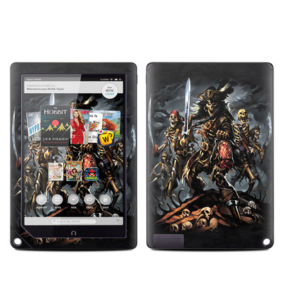 Barnes and Noble NOOK HD Plus Tablet Skin - Pirates Curse