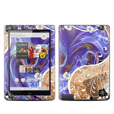 Barnes and Noble NOOK HD Plus Tablet Skin - Purple Waves