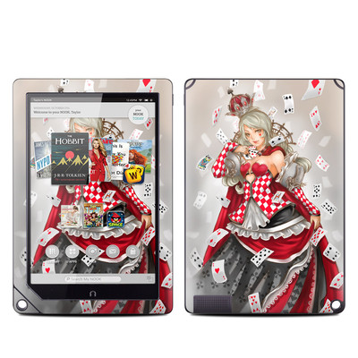 Barnes and Noble NOOK HD Plus Tablet Skin - Queen Of Cards