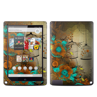 Barnes and Noble NOOK HD Plus Tablet Skin - Rusty Lace