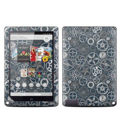 Barnes and Noble NOOK HD Plus Tablet Skin - Silver Gears