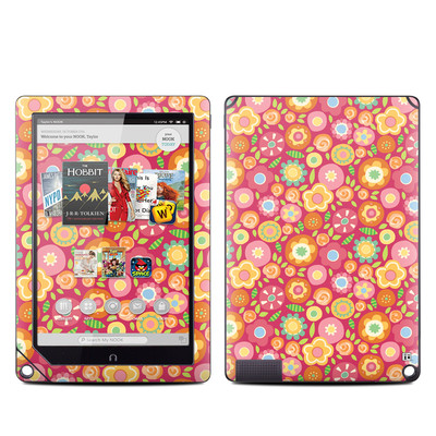 Barnes and Noble NOOK HD Plus Tablet Skin - Flowers Squished
