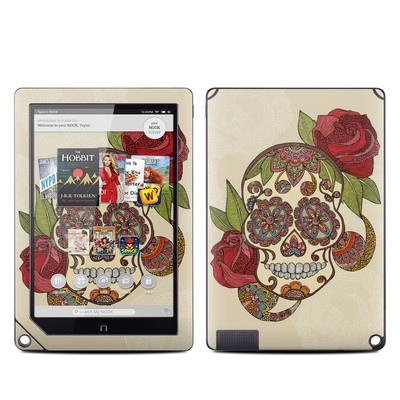 Barnes and Noble NOOK HD Plus Tablet Skin - Sugar Skull