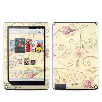 Barnes and Noble NOOK HD Plus Tablet Skin - Tulip Scroll