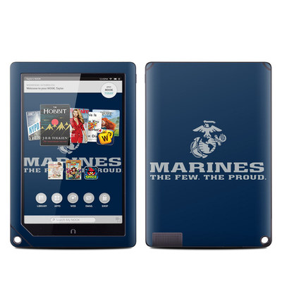 Barnes and Noble NOOK HD Plus Tablet Skin - USMC Blue