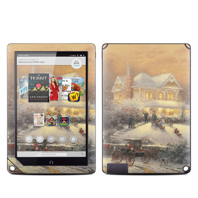 Barnes and Noble NOOK HD Plus Tablet Skin - Victorian Christmas
