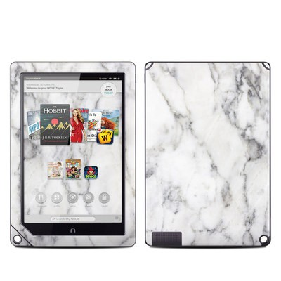 Barnes and Noble NOOK HD Plus Tablet Skin - White Marble