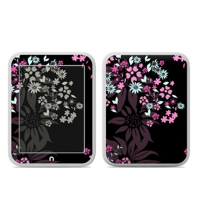 Barnes and Noble NOOK GlowLight Skin - Dark Flowers