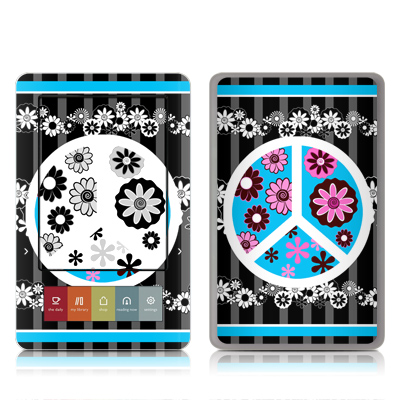 Nook Skin - Peace Flowers Black