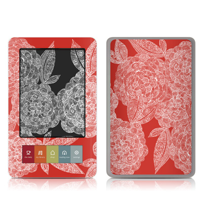 Nook Skin - Red Dahlias
